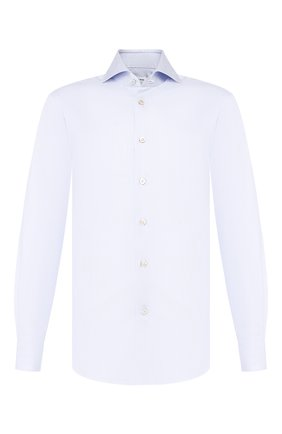 Мужская хлопковая сорочка KITON светло-голубого цвета, арт. UCCH0708502 | Фото 1