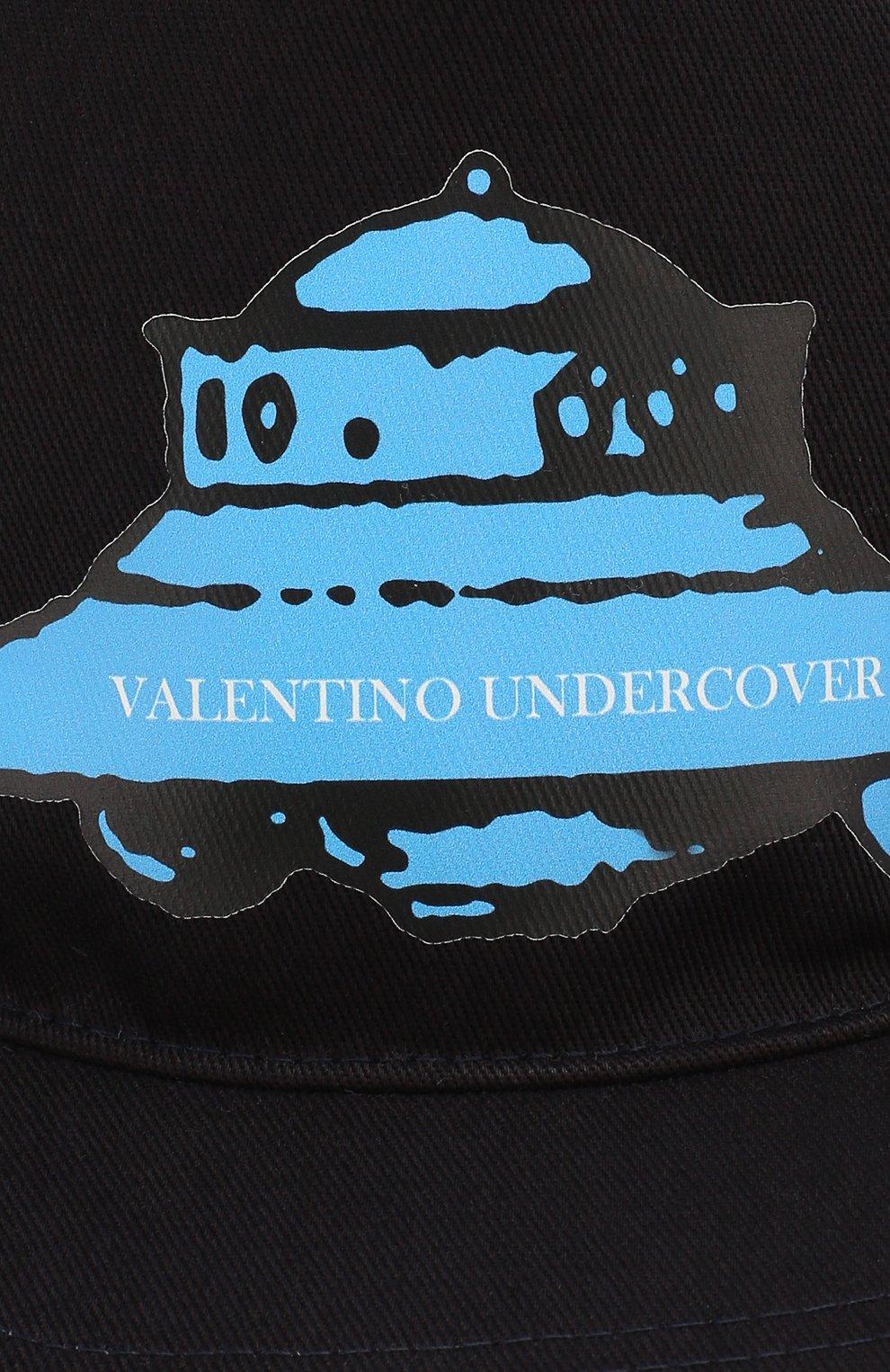 Мужской хлопковая бейсболка valentino x undercover VALENTINO черного цвета, арт. SY0HDA10/SBP | Фото 3