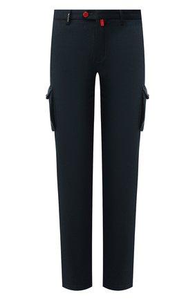 Мужской шерстяные брюки-карго KITON зеленого цвета, арт. UFPPCAK01S28 | Фото 1
