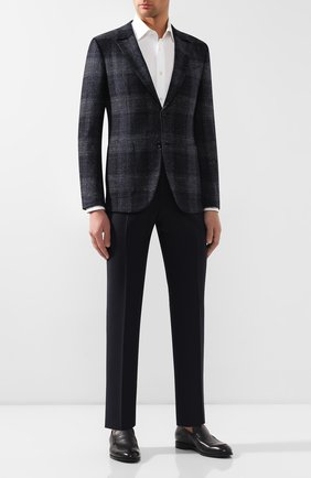 Мужские кожаные лоферы ERMENEGILDO ZEGNA черного цвета, арт. A4274X-LHERA | Фото 2