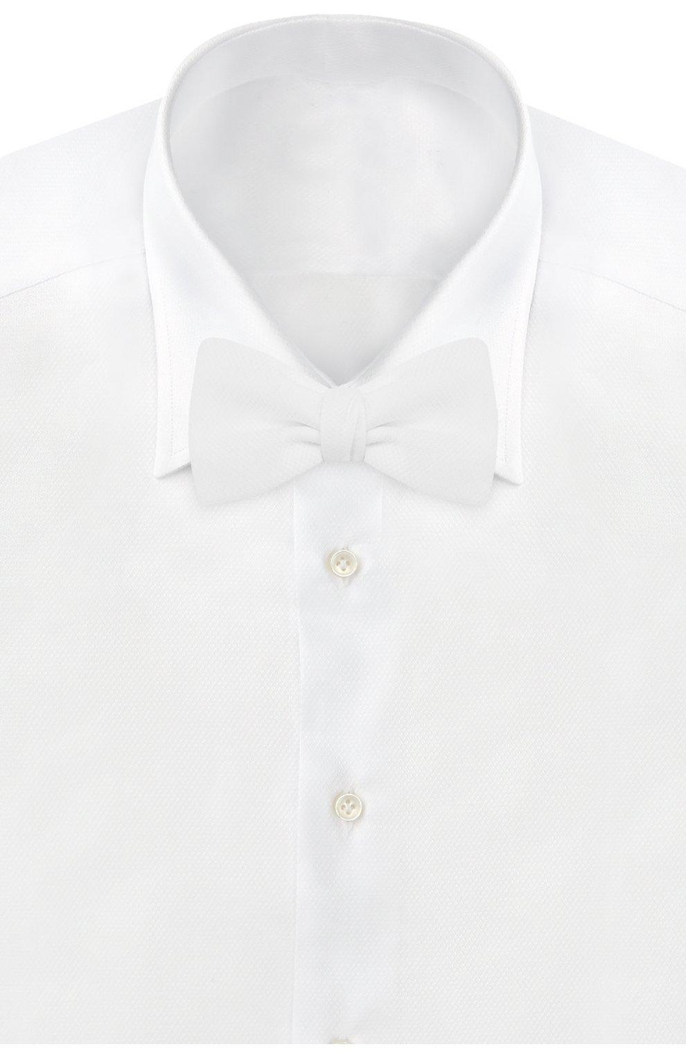 Мужской хлопковый галстук-бабочка BRIONI белого цвета, арт. 01T200/PZ060 | Фото 2
