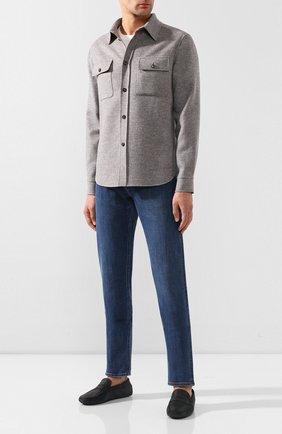 Мужские кожаные мокасины TOD'S черного цвета, арт. XXM0E000015PRX   Фото 2