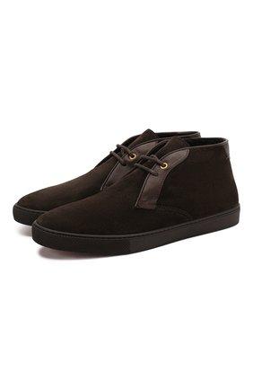 Мужские замшевые ботинки ERMENEGILDO ZEGNA темно-коричневого цвета, арт. A4316X-LHYMA | Фото 1