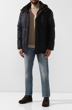Мужские замшевые ботинки ERMENEGILDO ZEGNA темно-коричневого цвета, арт. A4316X-LHYMA | Фото 2