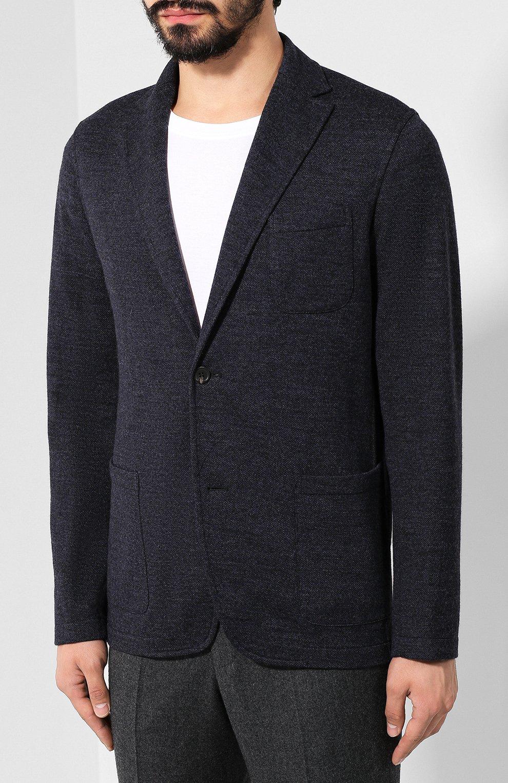 Пиджак из смеси шерсти и хлопка   Фото №3