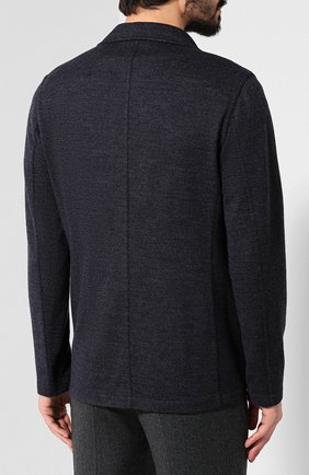 Пиджак из смеси шерсти и хлопка   Фото №4