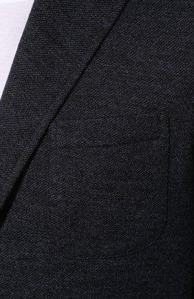 Пиджак из смеси шерсти и хлопка   Фото №5