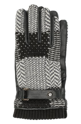 Мужские перчатки GIORGIO ARMANI серого цвета, арт. 744014/9A210 | Фото 1