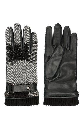 Мужские перчатки GIORGIO ARMANI серого цвета, арт. 744014/9A210 | Фото 2