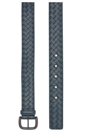 Мужской кожаный ремень BOTTEGA VENETA синего цвета, арт. 173784/V4650 | Фото 2