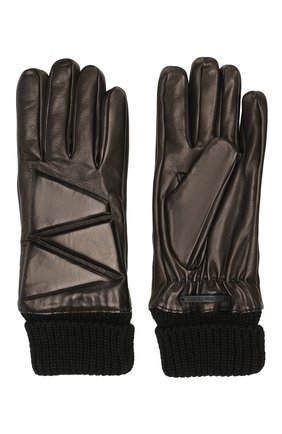 Мужские кожаные перчатки BOTTEGA VENETA черного цвета, арт. 590743/4V525 | Фото 2