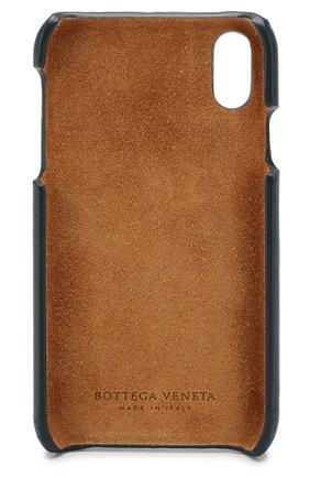Мужской кожаный чехол для iphone x/xs BOTTEGA VENETA синего цвета, арт. 592060/V00BL | Фото 2