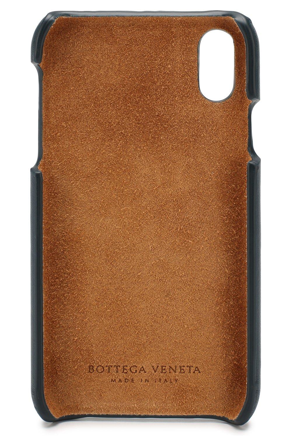 Мужской кожаный чехол для iphone xr BOTTEGA VENETA синего цвета, арт. 592063/V00BL | Фото 2