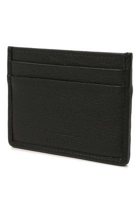 Мужской кожаный футляр для кредитных карт ERMENEGILDO ZEGNA черного цвета, арт. E1139P-LHPTA | Фото 2