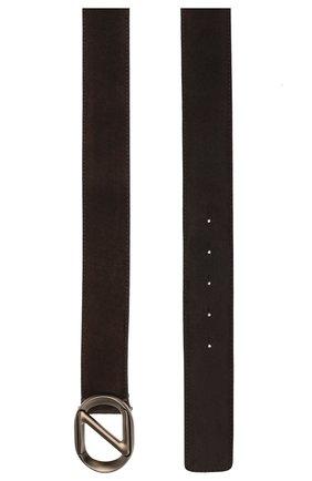 Мужской замшевый ремень Z ZEGNA темно-коричневого цвета, арт. BSUE1B/J9Z01F | Фото 2
