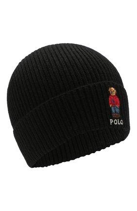 Мужская шапка POLO RALPH LAUREN черного цвета, арт. 449775528 | Фото 1