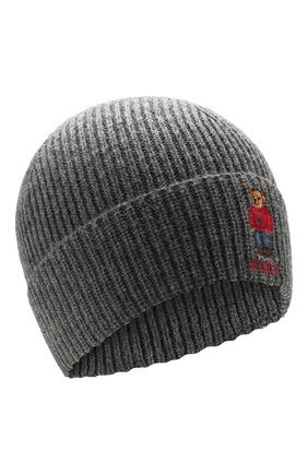 Мужская шапка POLO RALPH LAUREN серого цвета, арт. 449775528 | Фото 1