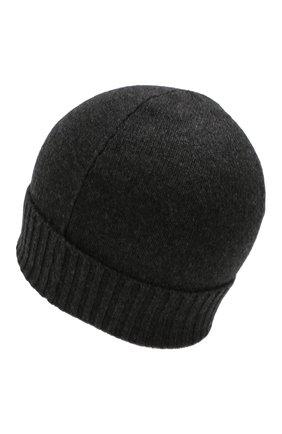 Мужская кашемировая шапка CRUCIANI темно-серого цвета, арт. AU22.030 | Фото 2
