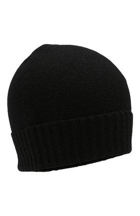 Мужская кашемировая шапка CRUCIANI черного цвета, арт. AU22.030   Фото 1