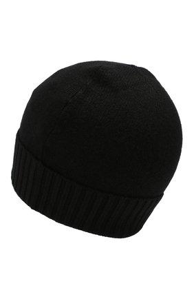 Мужская кашемировая шапка CRUCIANI черного цвета, арт. AU22.030 | Фото 2
