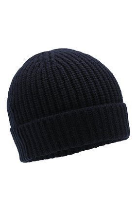 Мужская кашемировая шапка CRUCIANI темно-синего цвета, арт. AU050 | Фото 1