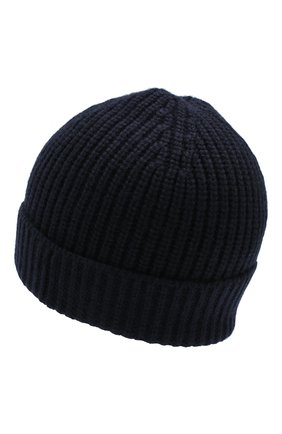 Мужская кашемировая шапка CRUCIANI темно-синего цвета, арт. AU050 | Фото 2