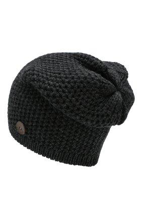 Мужская кашемировая шапка INVERNI темно-серого цвета, арт. 0097CMGD | Фото 2