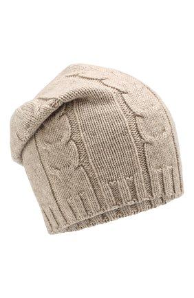 Мужская кашемировая шапка INVERNI бежевого цвета, арт. 2023CM | Фото 1
