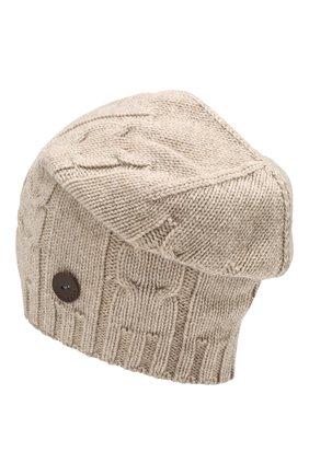 Мужская кашемировая шапка INVERNI бежевого цвета, арт. 2023CM | Фото 2