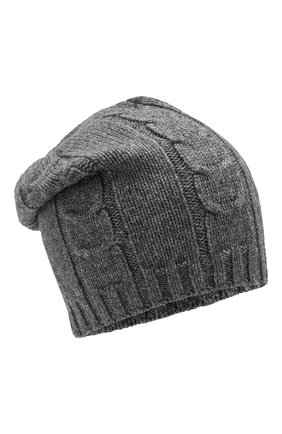 Мужская кашемировая шапка INVERNI серого цвета, арт. 2023CM | Фото 1