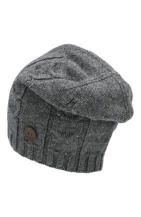 Мужская кашемировая шапка INVERNI серого цвета, арт. 2023CM | Фото 2