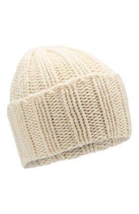 Мужская кашемировая шапка INVERNI белого цвета, арт. 2924CMC1 | Фото 1