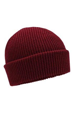 Мужская кашемировая шапка INVERNI бордового цвета, арт. 4553CM | Фото 1