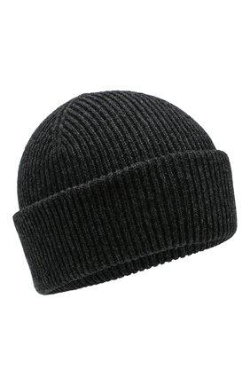 Мужская кашемировая шапка INVERNI темно-серого цвета, арт. 4553CM | Фото 1