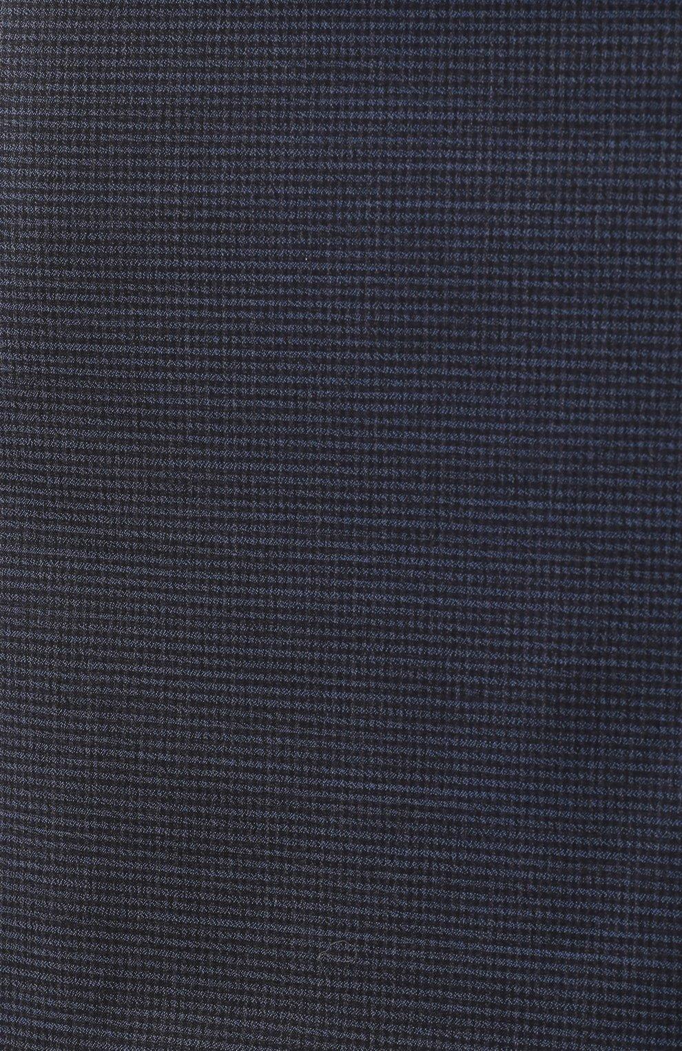 Женская шерстяная юбка BOSS темно-синего цвета, арт. 50417271 | Фото 5
