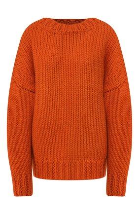 Женская шерстяной свитер DRIES VAN NOTEN красного цвета, арт. 192-11255-8719 | Фото 1