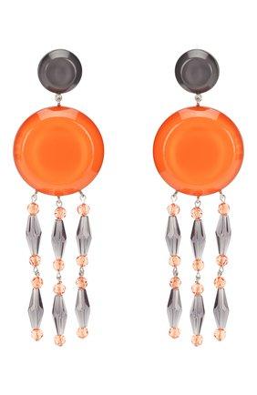 Женские серьги-клипсы GIORGIO ARMANI оранжевого цвета, арт. 61C613/9A763 | Фото 1