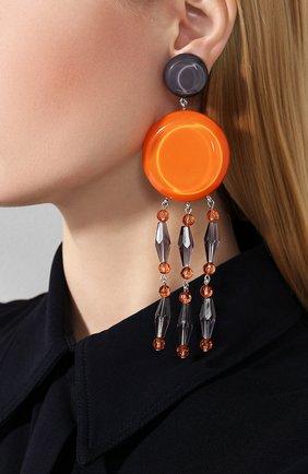 Женские серьги-клипсы GIORGIO ARMANI оранжевого цвета, арт. 61C613/9A763 | Фото 2
