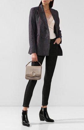 Женская сумка chloé с small  CHLOÉ серого цвета, арт. CHC19WS199A37   Фото 2
