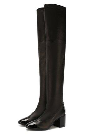 Женские кожаные ботфорты CASADEI черного цвета, арт. 1T932N0601T00569000 | Фото 1