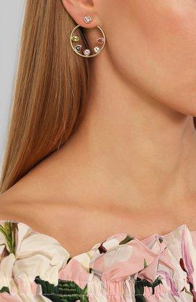 Женские серьги EXCLAIM золотого цвета, арт. 041G2945E | Фото 2
