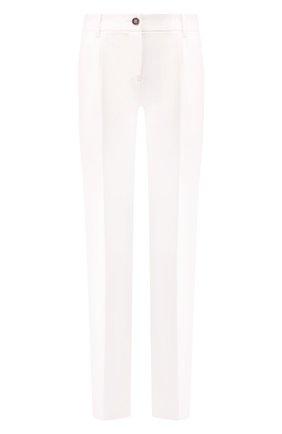 Женские шерстяные брюки DOLCE & GABBANA белого цвета, арт. FTAH0T/FUCCS | Фото 1