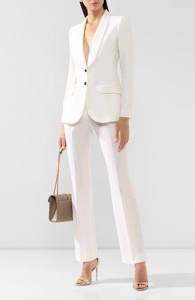 Женские шерстяные брюки DOLCE & GABBANA белого цвета, арт. FTAH0T/FUCCS | Фото 2