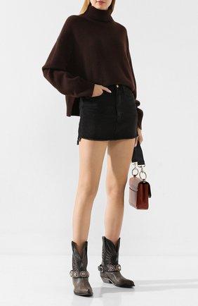 Женская джинсовая юбка FRAME DENIM серого цвета, арт. LMSKTSG252 | Фото 2