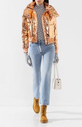 Женский утепленная куртка OFF-WHITE бронзового цвета, арт. 0WEA174E19E76069B5B5 | Фото 2