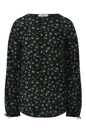 Женская блузка из смеси вискозы и шелка DOROTHEE SCHUMACHER зеленого цвета, арт. 547305/SIMPLISTIC FL0WERS | Фото 1