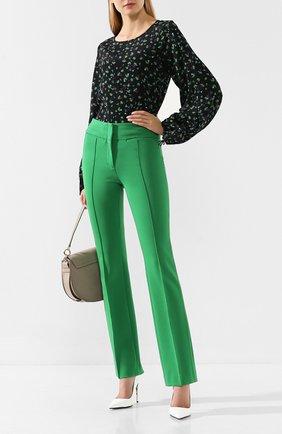 Женская блузка из смеси вискозы и шелка DOROTHEE SCHUMACHER зеленого цвета, арт. 547305/SIMPLISTIC FL0WERS | Фото 2