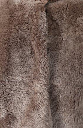 Бомбер из меха овчины | Фото №5