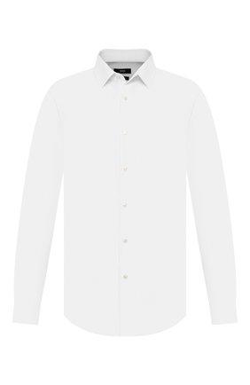 Мужская хлопковая сорочка BOSS белого цвета, арт. 50415975 | Фото 1