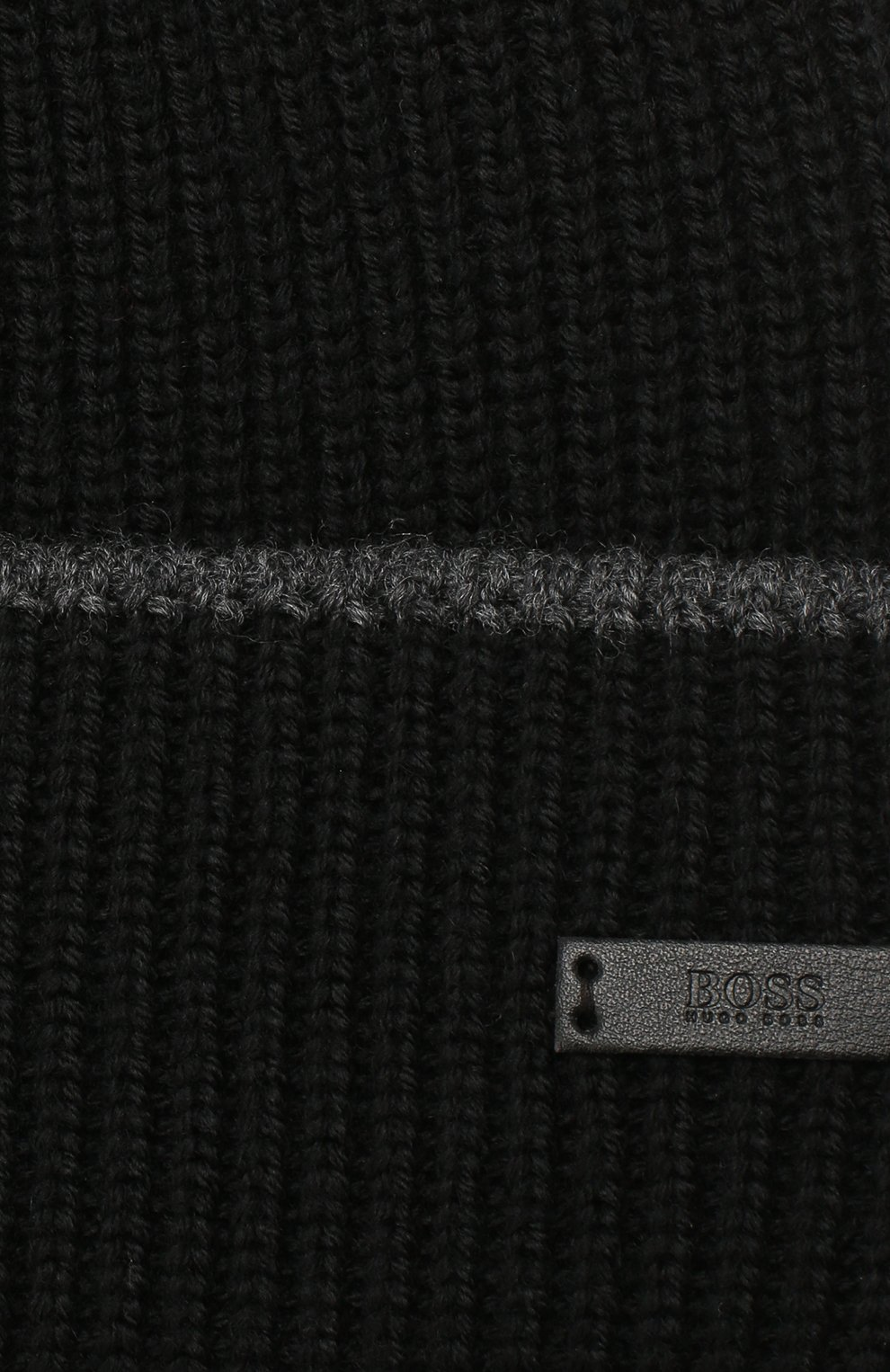 Мужская шерстяная шапка BOSS черного цвета, арт. 50416305   Фото 3